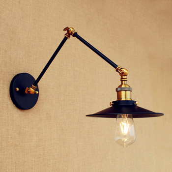 Black Aplik Retro Loft Vintage Wall Lamp Swing Long Arm Wall Light LED Edison Industrial Wall Sconce Arandela Lamparas De Pared wall sconce american country golden vintage led wall light fixtures for home indoor lighting beside lamp lamparas de pared
