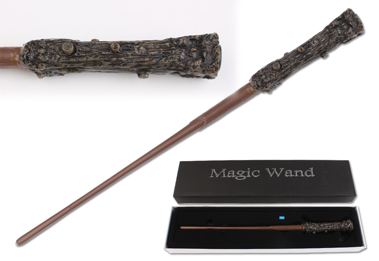 Newest Version Harry Potter LED Lighting Movie Cosplay Magic Tricks Role Play Magical Wand In Box (send more 1 battery)