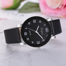 Luxury Brand Women Watches Buckle Women's Fashion Casual Quartz PU Leather Band