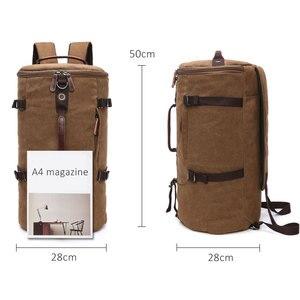 Image 3 - Scione męski plecak podróżny mężczyzna płótno bagażu Duffel torba Cylinder plecak górski dla mężczyzn duża pojemność Mochila