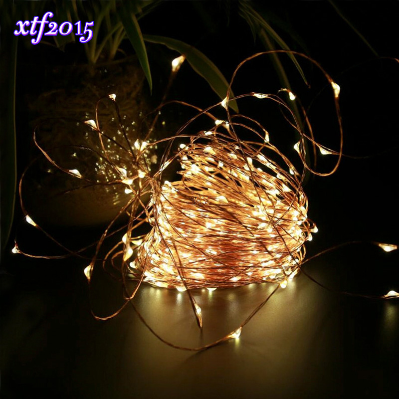 xtf2015 30M 300 Leds LED Starry Waterproof Lights with Remote Control Copper Wire Light for Bedroom