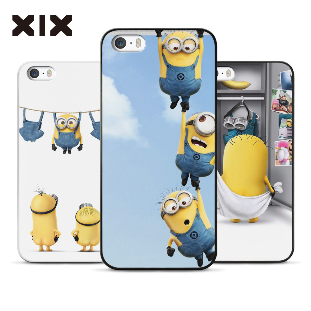2016 New Arrivals Cute Despicable Me Yellow Minion Design Hard PC Phone Shell Case Cover For Apple iPhone 5C Free shipping