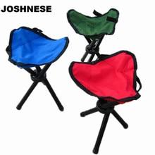 JOSHNESE Traveling Camping Tripod Triangular Folding Stool Chair Foldable Fishing Chairs Portable Fishing Mate Fold Chair