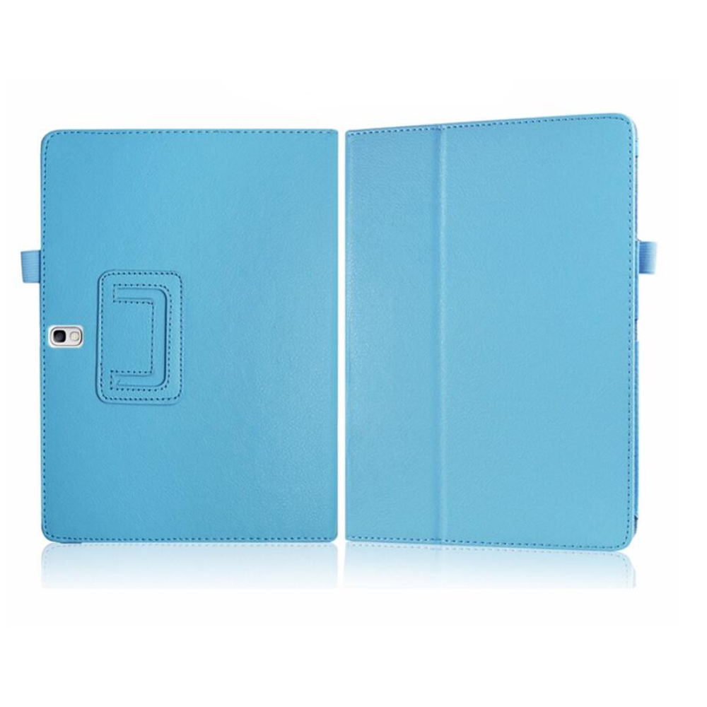 Case for Samsung Galaxy Tab S 10.5 T800 T805 10.5 inch Protective Solid Matte Litchi Flip PU Leather Tablet Cover