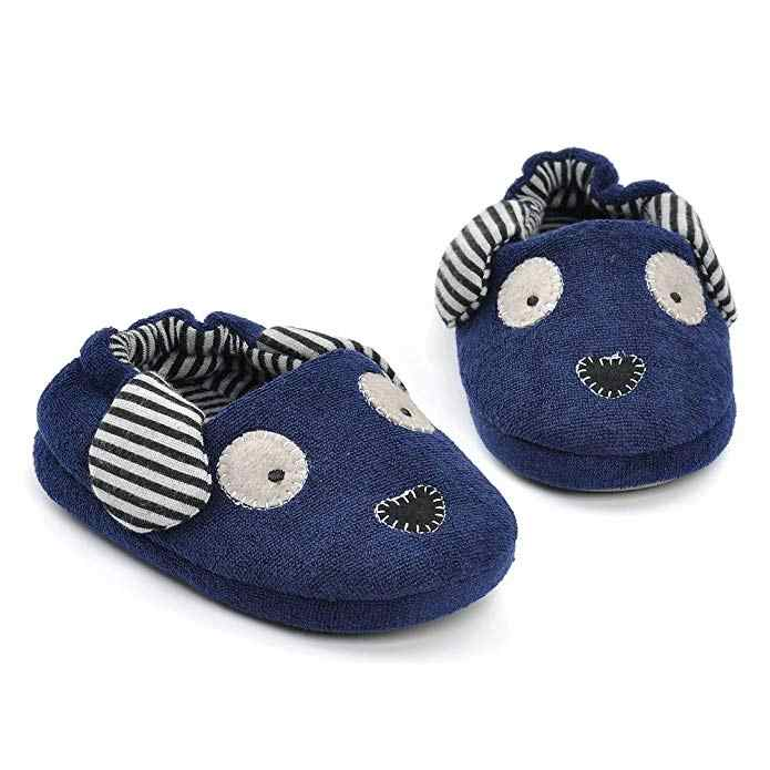 Winter Warm Coral-Wool Dog Rubber Base Slippers Floor Slippers Cartoon Children Cotton Slippers baby shoes mr001