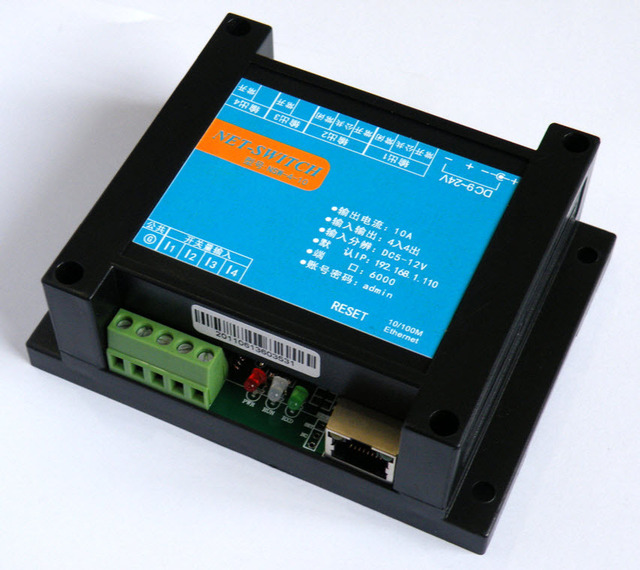 Smart Internet relay control board Android relay controller Network relay switch 4 input 4 output TCP UDP Communication