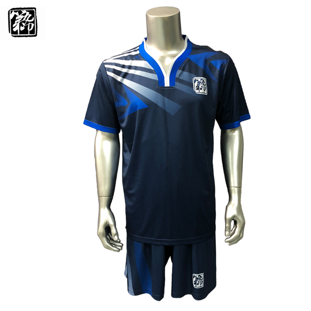 4dca65e3bef Free Shipping New 17 18 Nice Blue Color Men s Soccer Jerseys Sets Can  Customize Name Soccer Uniforms Shirts Football Suit Kits