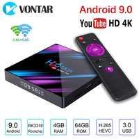 Android 9.0 TV Box H96 MAX Rockchip RK3318 4GB RAM 64GB H.265 4K 60fps Google Store Netflix Youtube H96MAX 2G 16G décodeur
