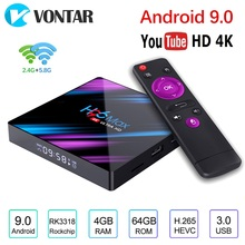 Android 9.0 TV Box H96 MAX RK3318 4GB RAM 64GB H.265 4K Goog