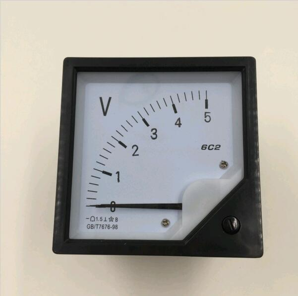 6C2 DC 5V 10V 15V 30V 50V 75V 100V 150V 300V 500V Accuracy Panel Analog Voltmeter Voltage Meter Gauge direct measurement 80*80mm analogue dc 500v voltage panel meter white