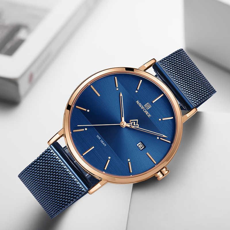 NAVIFORCE Mode Paar Uhr Mesh stahl gürtel Frauen Uhren Top Luxus Marke Wasserdichte Frauen Uhren Reloj Mujer