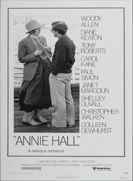 Annie Hall Woody Allen Vintage Movie SILK POSTER Decorative Wall painting 24x36inch image