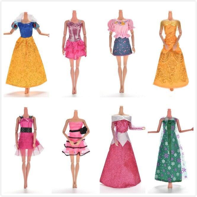 Dress Fashion Mini Doll Dress Dolls Party Slim Dress Clothing Accessories Summer Handmade Elegant Платье
