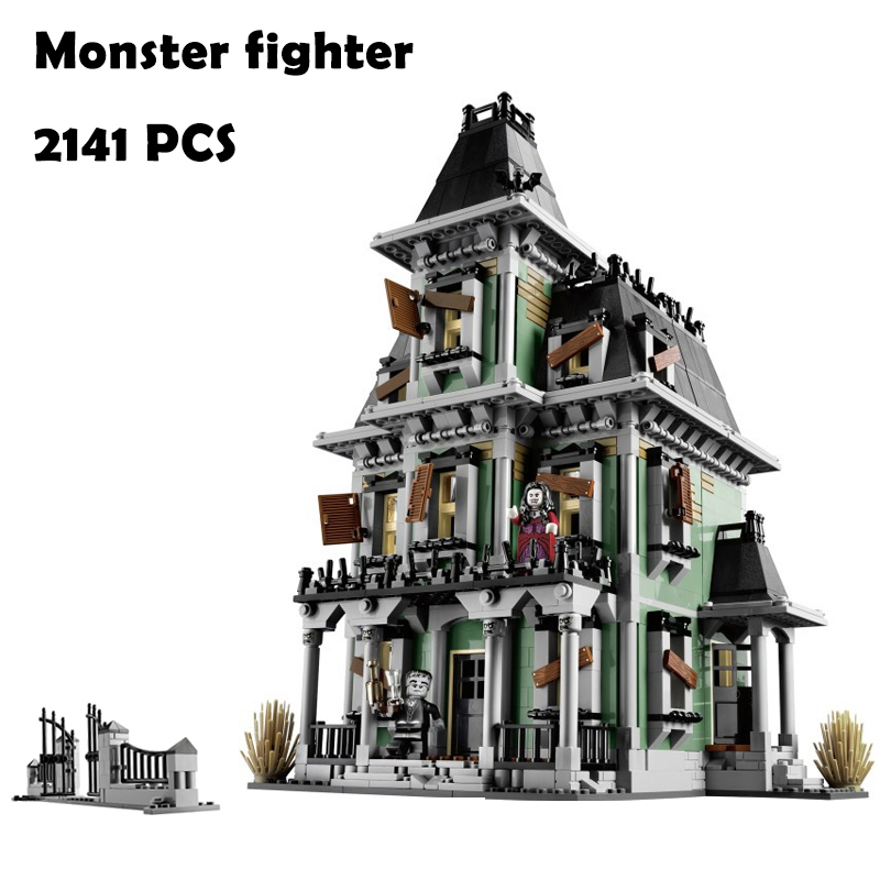 Model Building Blocks toys 16007 2141Pcs Monster fighter compatible with lego Movies Series 10228 Educational DIY toys hobbies lepin 16007 2141pcs monster fighter the haunted house model set building kits model compatible with 10228 educational toys gifts