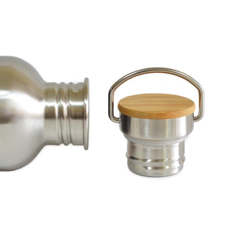 1000mL BPA Besplatna nehrđajućeg čelika boca vode bambus kapa - Kuhinja, blagovaonica i bar - Foto 4