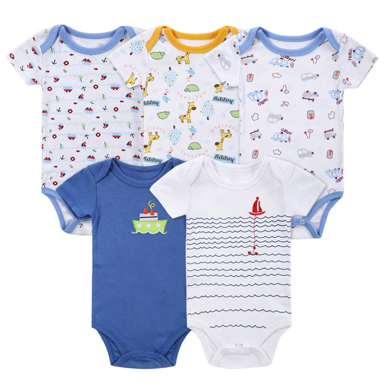 3/4/5PCS/LOT Mother Nest Brand Baby Romper Long Sleeves 100% Cotton Baby  Pajamas Cartoon Printed Newborn Baby Girls Boys Clothes