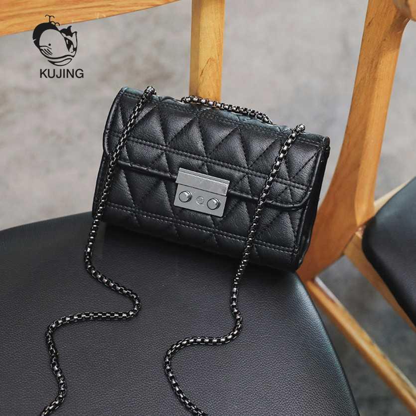 8190e69a423b KUJING Ladies  Handbags Luxury Lingge Women s Square Bags Premium Women s  Shoulder Messenger Bags Hot Sale