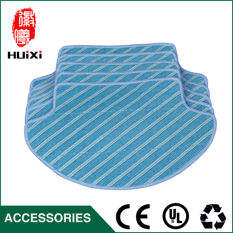 5pcs High Efficiency 269*157*187mm Blue Mop Cloth to Clean Home for DG710 Robot Vacuum Cleaner Parts 12pcs lot high quality robot vacuum cleaner wet mop hobot168 188 window clean mop cloth weeper vacuum cleaner parts
