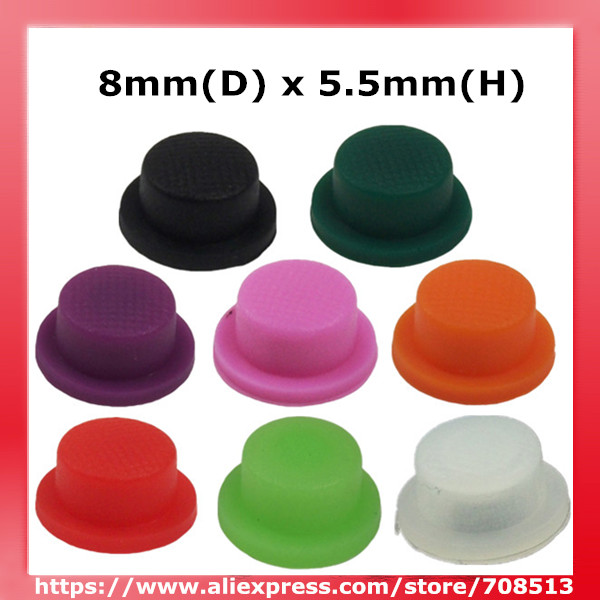 8mm(D) X 5.5mm(H) Silicone Tailcaps - 10pcs