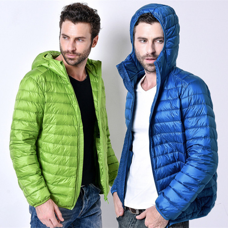 2017, Новая мода бренд белая утка Подпушка куртка Для мужчин осень-зима теплое пальто Для Мужчин's Сверхлегкий утка Подпушка куртка мужской ветрозащитный парка