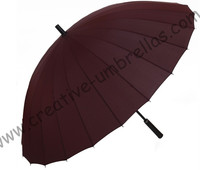 Business parasol 24 ribs metal umbrellas creative umbrella 14mm metal shaft and fluted metal long ribs hand open