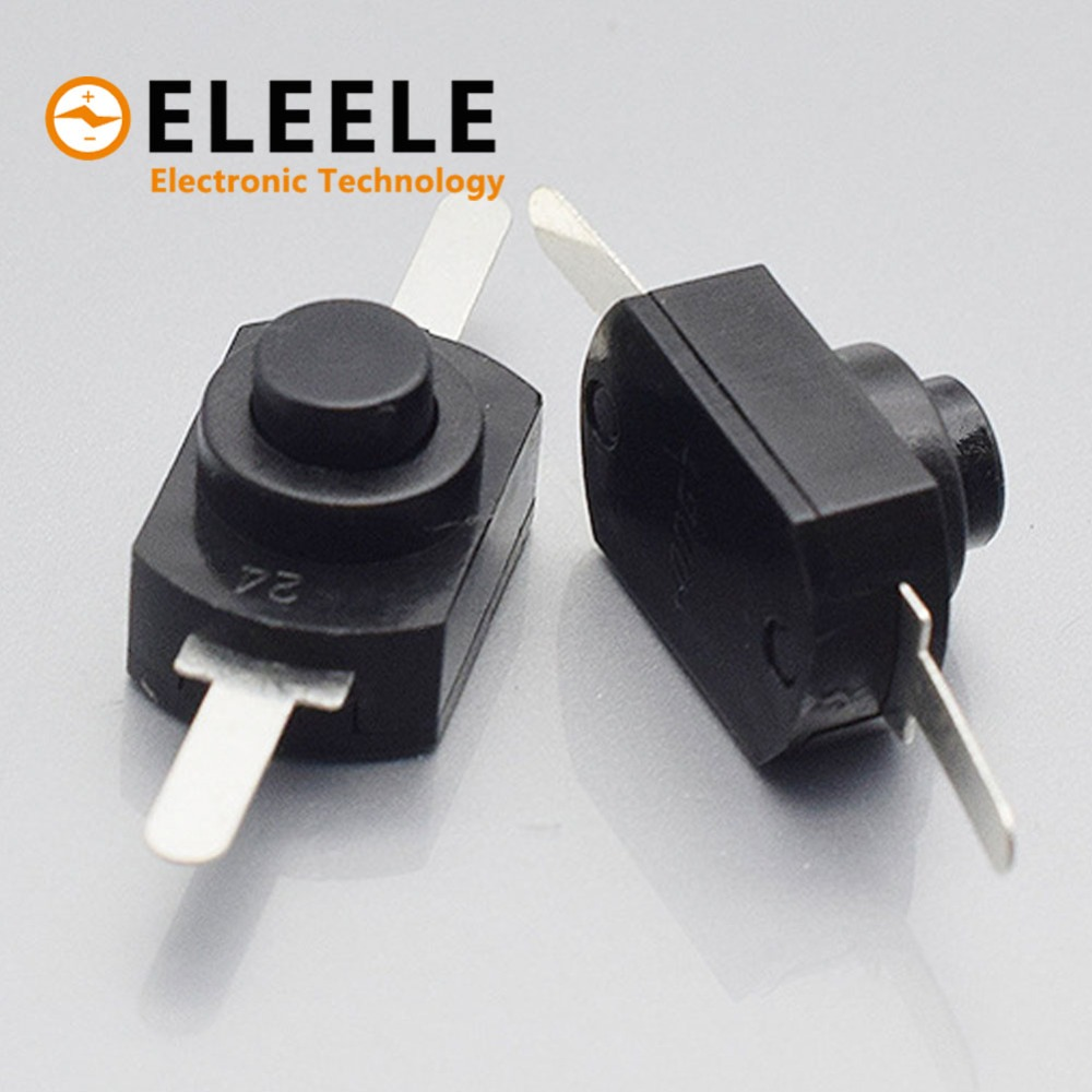 10PCS <font><b>12</b></font>*8MM <font><b>DC</b></font> <font><b>30V</b></font> 1A Black On Off Mini Push Button Switch for Electric Torch 1208YD PN36 image