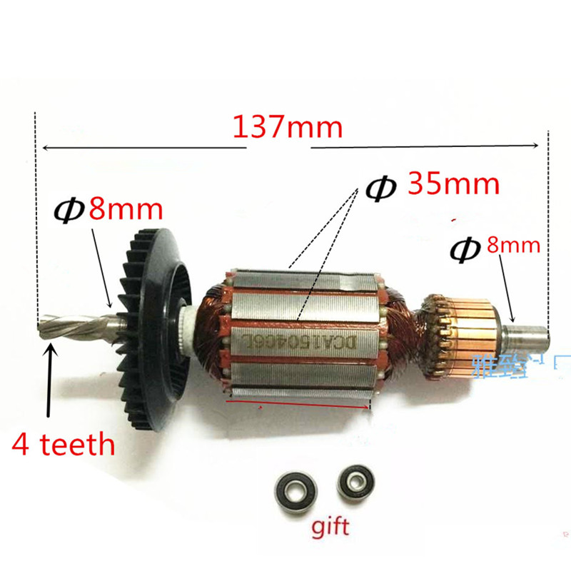 AC220-240V Rotor Motor Armature Replacement for Bosch GBM10SRE GBM10RE GSB450R PSB42RE PSB420RET PSB400RET PSB420RET PSB400RE ac 220 240v armature motor rotor replacement for bosch gbm500re gsb450re psb400re gsb13re gbm400re armature parts engine