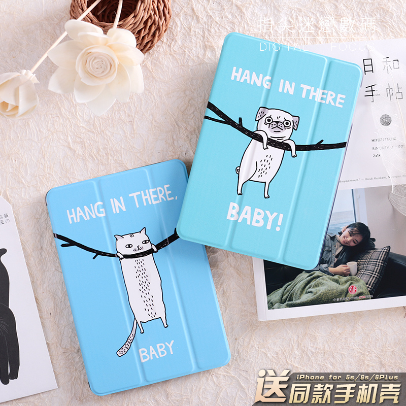 Cute Cat Dog MagnetFlip Cover For iPad Pro 9.7 10.5 Air Air2 Mini 1 2 3 4 Tablet Case Protective Shell for New iPad 9.7 2017 cartoon cute cat flip cover for ipad pro 9 7 air air2 mini 1 2 3 4 tablet case protective shell for new ipad 9 7 2017