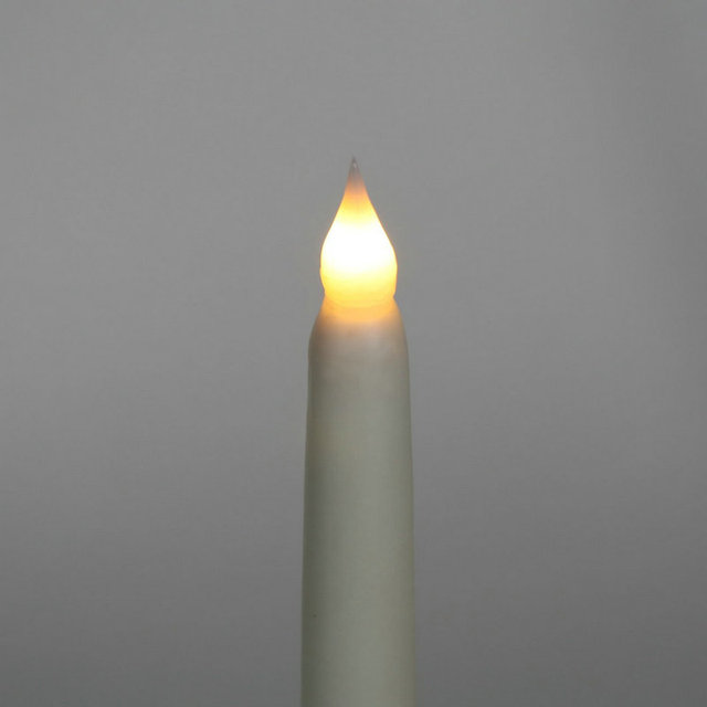 LED Battery Operated Flameless Ivory Candle