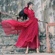 Женское платье с эластичной резинкой на талии boshow длинное