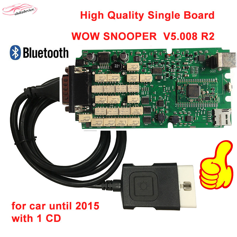 2018 NEC Relays WOW SNOOPER high quality single board Wurth 5.008+Bluetooth Diagnostic-tool TCS CDP NEW VCI MVDIAG Free Shipping new arrival new vci cdp with best chip pcb board 3 0 version vd tcs cdp pro plus bluetooth for obd2 obdii cars and trucks