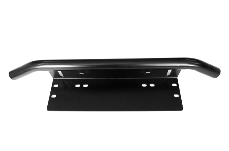 Black Bull Bar Front Bumper License Plate Mount Bracket Holder Offroad Day Light Bar For Off-Road Light LED Work Lamps