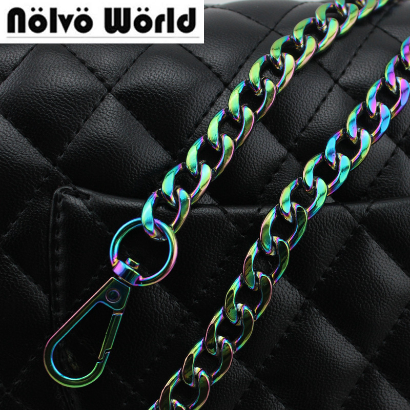 120cm NEW 11mm Width Fashion Rainbow Chain Bags Purses Strap From Accessory Factory Directly Quality Plating Cover Wholesale