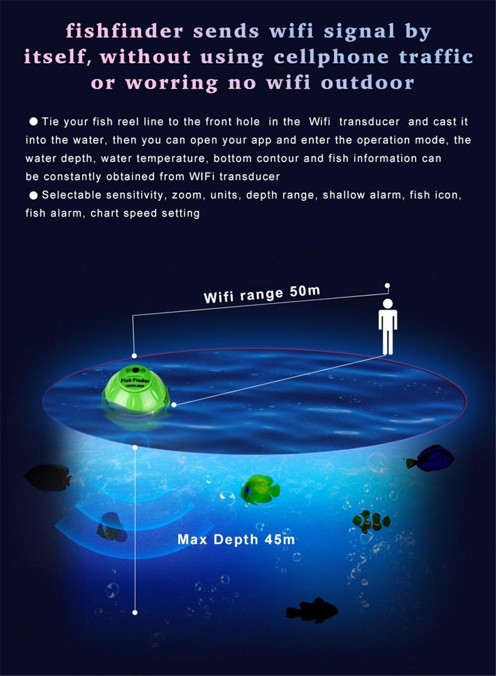 peixes do mar detectar localizador sem fio eco para android ios