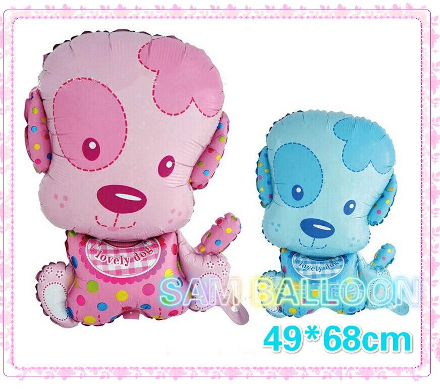Nuevo recomendado perro encantador globos 10 unids lote helio inflable aire  para la decoración de la fiesta de cumpleaños del bebé f0a98821bd89