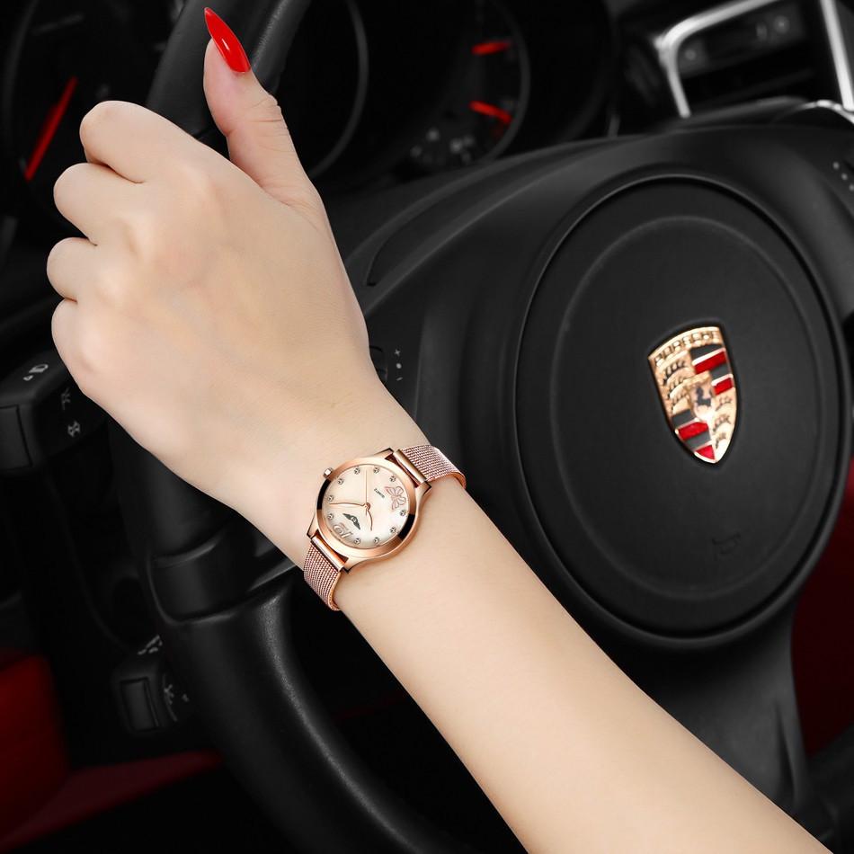 GUANQIN Women Watches Fashion Casual Quartz Watch Gold Women Bracelet Watch Stainless Steel Strap relogio feminino famous brand  (1)