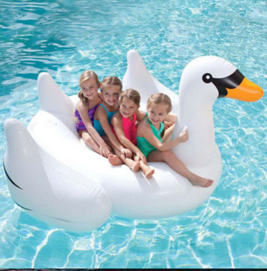 Summer Lake Swimming Water Lounge Pool Kid Giant Rideable Swan Inflatable Float Toy inflatable swan