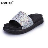 Women Wedge Sandals Fashion Slippers Peep Toe Sandals Trifle Stylish Shoes Women Heels Leisure Glitter Daily
