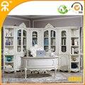 ( 1 исследование стол + 5 шт. книжный шкаф ) европейский современный белый дом читальный зал мебель CE-FI-02