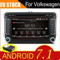 7 Capacitive touch screen Android 7.1 Car DVD GPS built in wifi for VW Volkswagen POLO PASSAT B6 Golf 5 6 Skoda Octavia