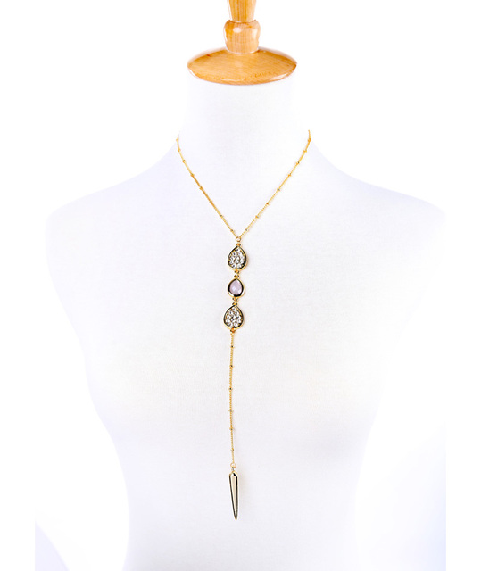 New Arrival Gold Color Rivet Pendant Necklace Fashion Jewelry Summer Long Women Necklace Birthday Gift