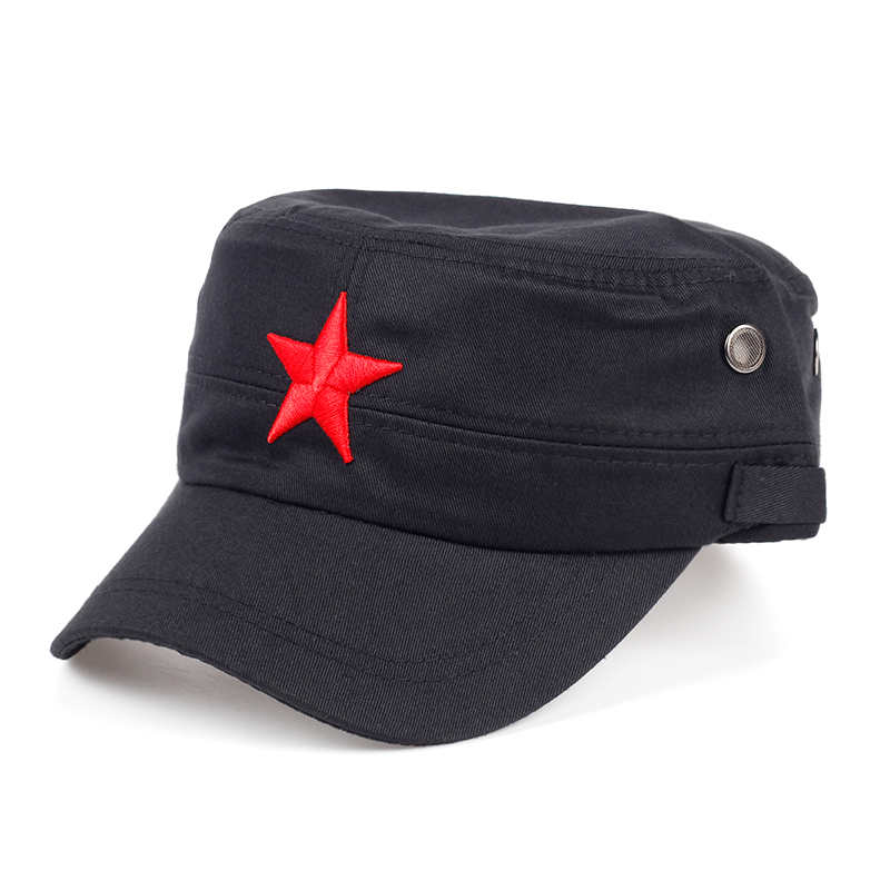 TUNICA 2017 New Chinese red star embroidered baseball cap fashion female hat cotton men and women can adjust hip hop hat nasa insignia embroidered cotton twill cap red