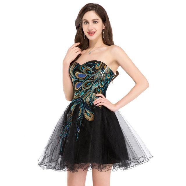 Peacock Prom Dresses 2018