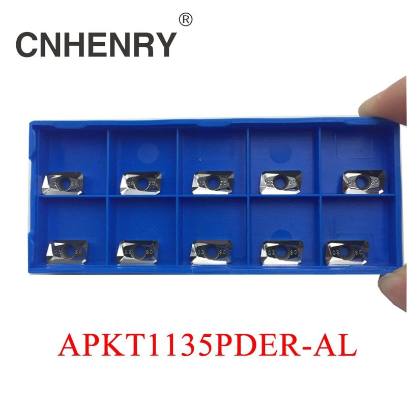 New Arrival CNC Machine Tools Aluminum Milling Cutter APKT1135 10pc/Set Aluminum Inserts For Aluminum Processing precision processing aluminum prototyping cnc milling service