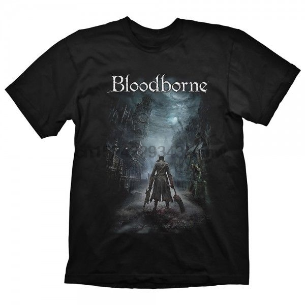 Bloodborne Men& Night Street Large Black T Shirt Men T Shirt Short Sleeve Round Neck 100 Cotton T Shirt For Boy