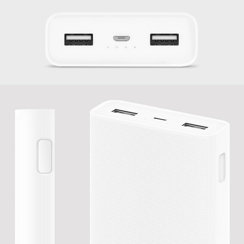 20000mah Xiaomi Mi Power Bank 2c Smart Fast Charging Qc30 Portable