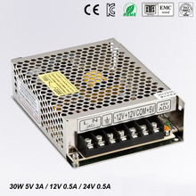 цена на 30W Triple output switching power supply 5V 12V 24V 3A 0.5A 0.5A power suply T-30D High quality ac dc converter