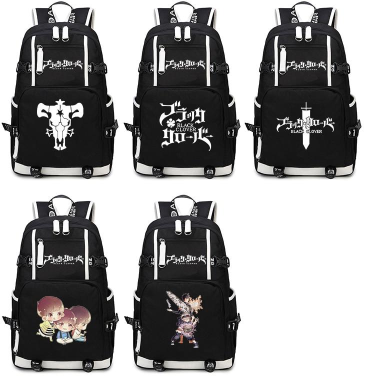все цены на Black Clover Backpack Cosplay Anime Asta Canvas Bag Schoolbag Travel Bags онлайн