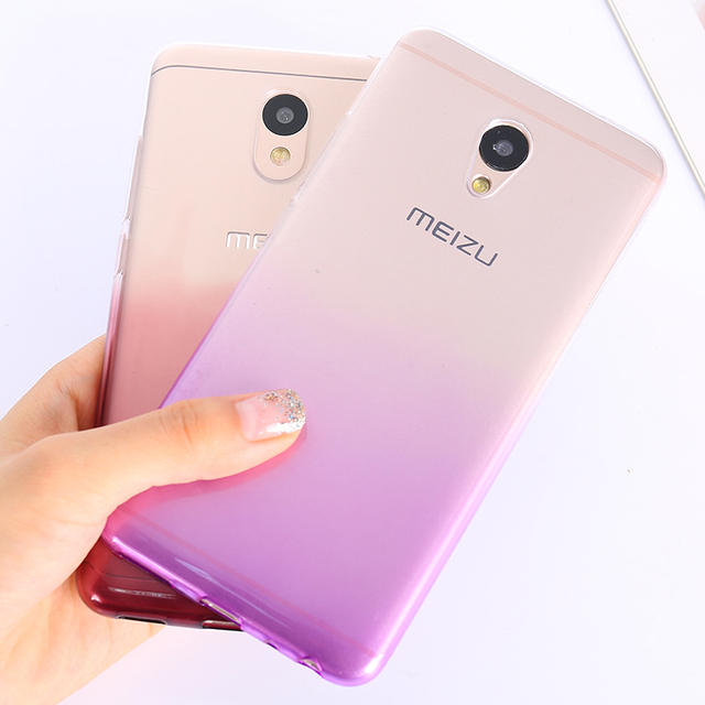 Soft Gradient Silicone Cases For Meizu M6 Note Pro 7 U20 U10 M6 M3 M5 Note MX6 M6s M5s M5C 5A Ultra Slim Bumper Phone Back Cover