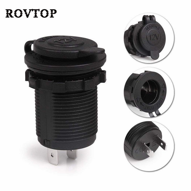 12V Car Cigarette Lighter Socket Plug Waterproof Car Boat Motorcycle Cigarette Lighter Socket Power Plug Outlet(China)